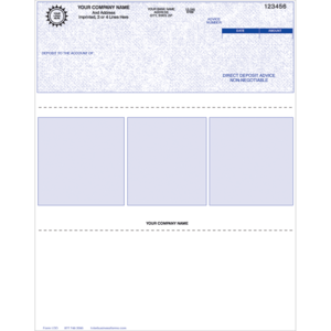 Preprinted Deposit Advice Forms